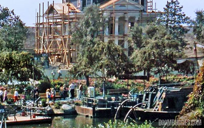 Images from the construction of both Disneyland's and Disney World's Haunted Mansions.